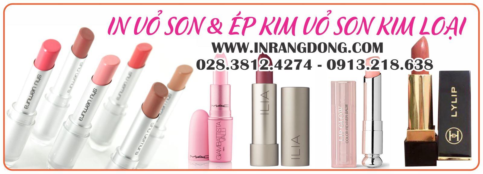 IN VỎ SON - ÉP KIM VỎ SON